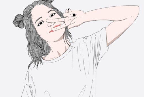 Girl Happy V Sign Hand Gesture  - Saydung89 / Pixabay